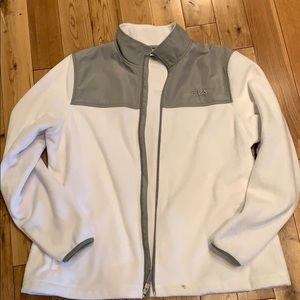 White Fila coat